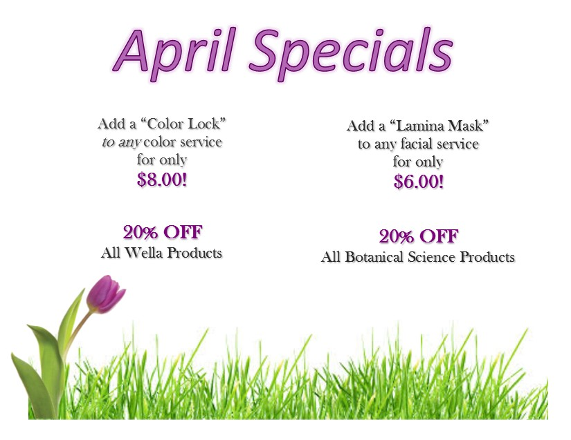 april specials capri cosmetology learning centers